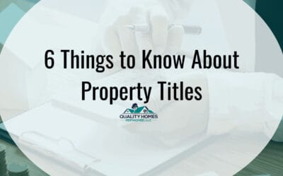 6 Things To Know About Property Titles
